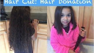 Child Hair Cut: Hair Donation to Charity Locks of Love- Jade 2016