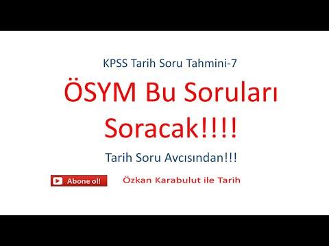 KPSS Soru Tahmini-7 #kpss #kpsstarih #kpssmemur #kpssmizah #2021tayfa #2021kpss #2022kpss #2022tayfa