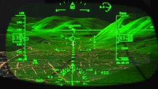 Rockwell Collins Head-up Guidance (HGS) Demo -- It's Intuitive and Easy to Fly
