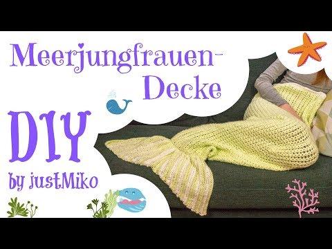 Meerjungfrau-Decke häkeln 🐠 *Do it Yourself* | VERLOSUNG #WirMachenWeihnachten