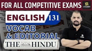 Daily The Hindu Vocab & Editorial #131   30 December 2019   For All Competitive Exams   By Ravi Sir