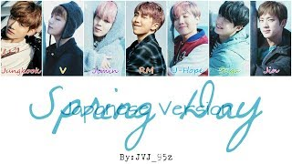 BTS(防弾少年団) - Spring Day Japanese Ver. (Colour Coded Lyrics Kan/Rom/Eng)