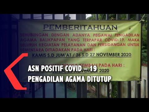 asn terpapar covid kantor pengadilan agama balikpapan ditutup
