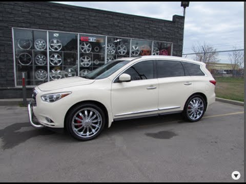 2013 INFINITI JX 35 RIDING ON CUSTOM 22 INCH CHROME RIMS