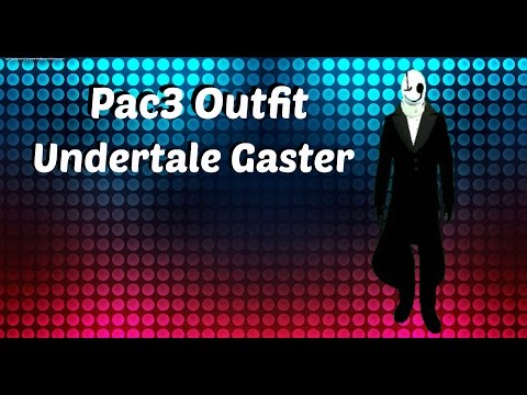 Gmod Pac3 Outfit Undertale Gaster videominecraft ru
