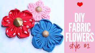 {DIY} Fabric Flowers: How To Make Fabric Flowers Easy And Fast