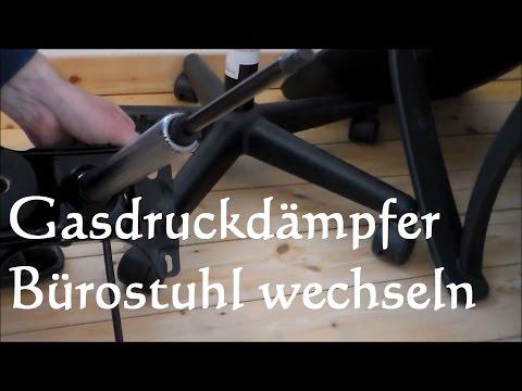 Gasdruckfedern Bürostuhl wechseln austauschen reparieren - replace Office Swivel Chair gas cylinder