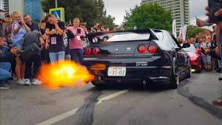 (IT SPITS FLAMES!!!) Insane R33 Skyline GT-R SOO LOUD