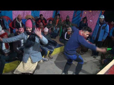 पुर्कोते बाजामा बाग्लुङे डान्स || लोक प्रिय Panchebaja || Srijana and Manoj wedding ceremony
