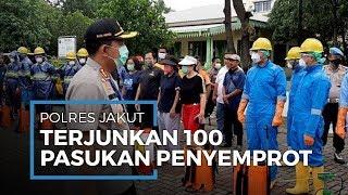 Pandemi Covid-19, 100 Personel Polres Jakut Dikerahkan Jadi Pasukan Penyemprot Disinfektan