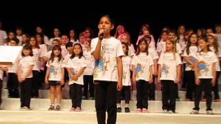 Rafaela singing Jolly Old St Nicholas