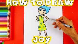 How To Draw Joy From The Disney Movie Inside Out
