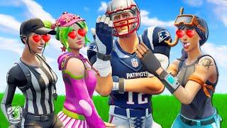 PRO PLAYER GETS FAN CLUB OF GIRLS! *NFL SKINS* - Fortnite Short Films