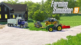 LANDSCAPING & FIXING OLD DRIVEWAY | (ROLEPLAY) FARMING SIMULATOR 2019