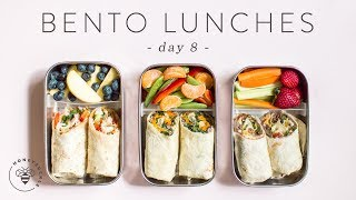 3 (Healthier) BENTO BOX Lunch Ideas 🐝 DAY 8 | HONEYSUCKLE