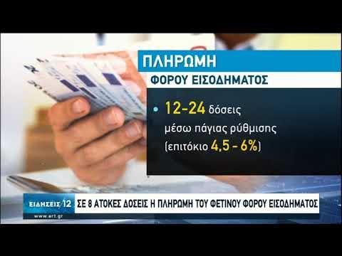 Σε 8 άτοκες δόσεις η πληρωμή του φετινού φόρου εισοδήματος | 30/06/2020 | ΕΡΤ
