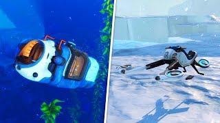 The New Vehicles in Subnautica: Below Zero (SeaTruck & SnowFox Gameplay)