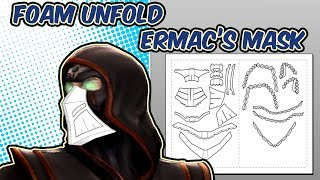 How to unfold in Pepakura - Ermac Mask