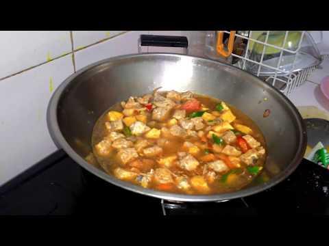 Video Cara memasak Tahu tempe kuah santan pedas