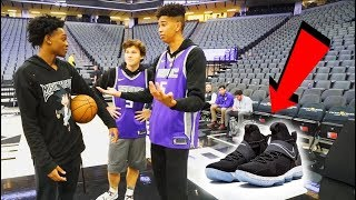 1v1 BASKETBALL WAGER vs. Future NBA SUPERSTAR De'Aaron Fox! LOSER BUYS ANY NIKES! - dooclip.me
