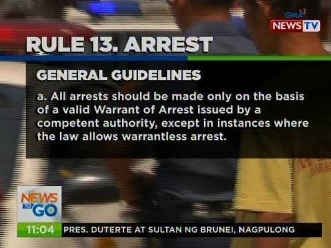 NTG: Quick Facts: Operations Manual ng PNP: Rule 13. Arrest