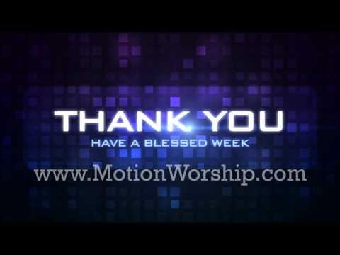 Grid Thank You Purple HD Church Looping Background