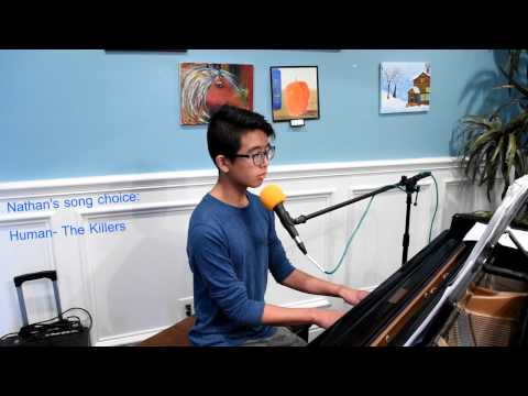 Nathan Han practice audition for the high school he wants to attend.