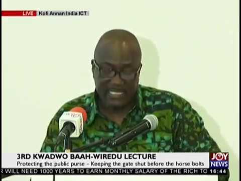 3rd Kwadwo Baah-Wiredu Lecture on JoyNews (20-9-18)