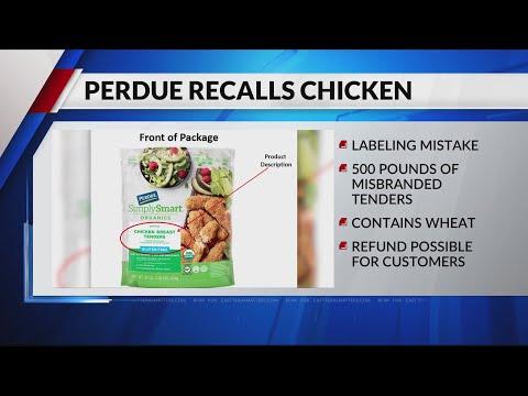 Perdue recalls misbranded chicken tenders
