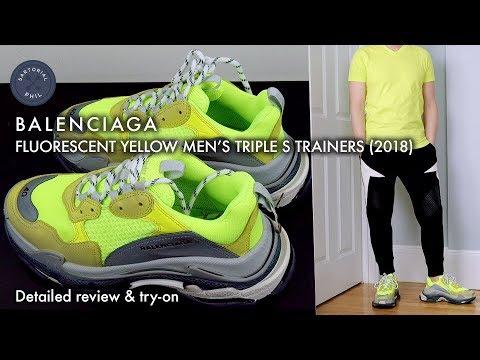 Balenciaga Triple s Sneaker 656686 W06g0 1001 Mezczyzn