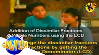Grade 6 Math  | Addition of Dissimilar Fractions and Whole Numbers  | Solved