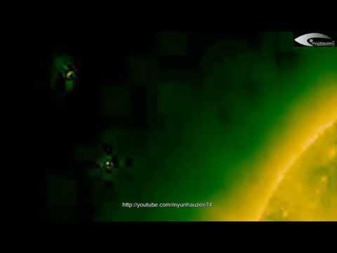 Observation of UFOs activity in solar orbit – January 26, 2014