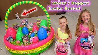 Dad Vs Easter Bunny! World's Biggest Easter Basket!!!
