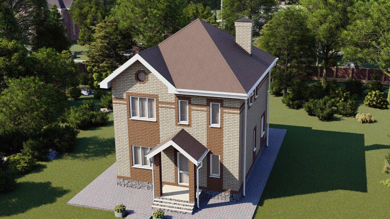 Двухэтажный дом с террасой и просторной кухней-гостиной