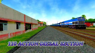 EXPRESS TRAIN SKKIPAD CHANSARI STATION IN 110 KMPH IN(MSTS OPANRAILS)  BY ARYAN RAILLOVER