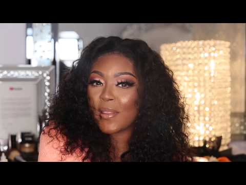 Unbleached Curly Wig + Prepluck Lace + Makeup Tutorial | Aligrace Hair