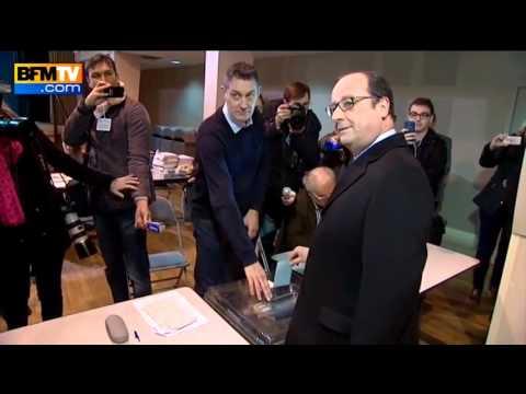 Image video Régionales - François hollande pas très habile pour voter