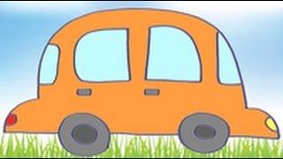 Dibujos de transportes para niños. Cómo dibujar un coche