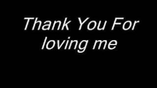 Bon Jovi - Thank You For Loving Me (Lyrics)