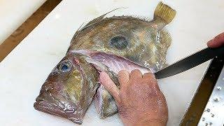 Japanese Street Food - JOHN DORY Sashimi Fish Stew Okinawa Seafood Japan