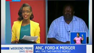 ANC Party leader, Musalia Mudavadi on ANC-Ford Kenya merger