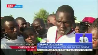 Street children in Eldoret protest the killing of one of their own