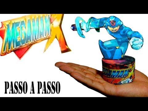 Como fazer o Mega man X com Laser e capa de Jogo do PS2