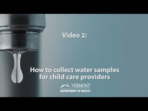 Video 2 - How to collect samples for child care providers