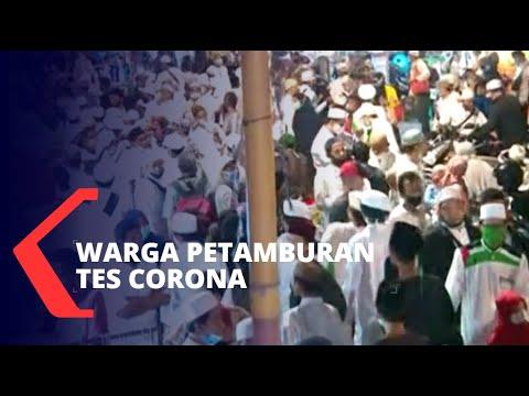 kerumunan acara fpi warga petamburan diminta ikut tes corona