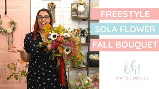 How To Make A Sola Wood Flower Wedding Bouquet - Fall Edition