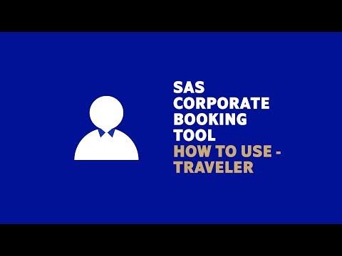 The SAS Corporate Booking Tool – As a traveler
