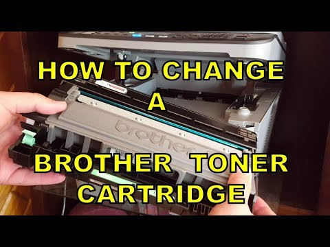 How To Change Toner In a Laser Printer (Brother MFC L2700DW)