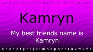 How to pronounce 'Kamryn' with Zira.mp4