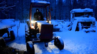 Tractor T-25 Cold Start -5C Degrees (1080p)